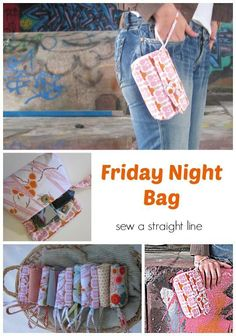 A free sewing pattern fromStraight Line Designfor this classywristlet bag you can take anywhere!  #FASHION MK BAGS# MICHAEL KORS