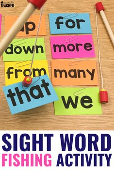 Sight word activities can be fun and engaging for preschool, kindergarten, first grade, and grade students in the classroom. These are my favorite hands on activities that require NO worksheets. Get the free flashcards and you& ready to play! Kids Learning Activities, Hands On Activities, Fun Learning, Educational Activities, Teaching Resources, Montessori Activities, Learning Spanish, Fun Phonics Activities, Word Work Activities