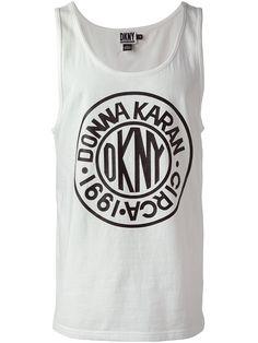 DKNY x Opening Ceremony round logo tank top