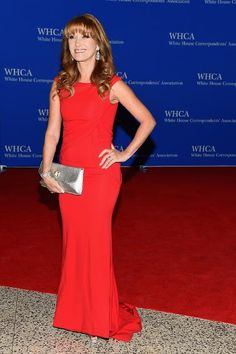 The actress, author, and jewelry scion knows how to light up a red carpet in a sleeveless scarlet frock adorned with her signature diamond jewelry.