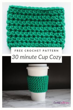 Crochet Cup Cozy – Free and easy crochet pattern and photo tutorial Crochet Cup Cozy – Free and easy crochet pattern and photo tutorial,Crocheting Free crochet pattern – 30 minute Cup Cozy. See the. Crochet Coffee Cozy, Crochet Cozy, Crochet Gratis, Coffee Cozy Pattern, Crochet Christmas Cozy, Coffee Cup Cozy, Crochet Geek, Diy Crochet, Crochet Ideas