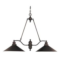 @Overstock - Transform the lighting in your home with this stunning two-light pendant. Featuring a design reminiscent of 19th century lighting, this gorgeous fixture has a Mission dust bronze finish that will work nicely with any decor, including modern and Tuscan.http://www.overstock.com/Home-Garden/Bridgeview-2-Light-Mission-Dust-Bronze-Finish-Trestle/6784066/product.html?CID=214117 $199.99