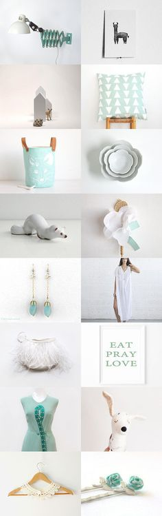 all for you :: mint and white shopping guide with the latest fashion trends all…