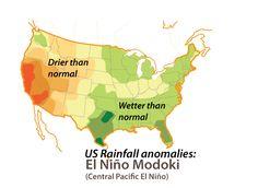 El Niño, drought, California, Central Pacific El Niño, Modoki