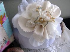 Handmade Fabric Flower Posey-Easter and Spring