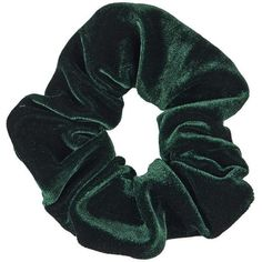 TopShop Velvet Scrunchie ($5.17) ❤ liked on Polyvore featuring accessories, hair accessories, hair, scrunchies, fillers, green, retro hair accessories, green hair accessories and scrunchie hair accessories