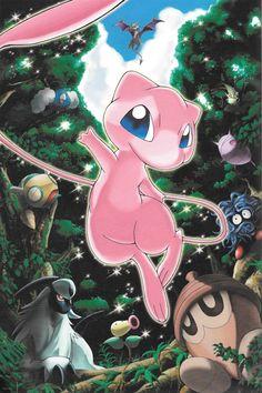 Mew Ancestor Of All Pokemon! Mew And Mewtwo, Pokemon Mew, Pokemon Fan Art, Pokemon Cards, Cute Pokemon Pictures, Pokemon Images, Pokemon Painting, Powerful Pokemon, Deadpool Pikachu