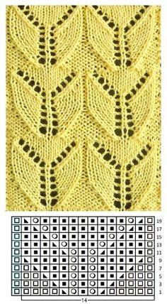 Lace Knitting Stitches, Lace Knitting Patterns, Baby Hats Knitting, Knitting Charts, Knitting Designs, Crochet Rug Patterns, Crochet Yarn, Stitch Patterns, Diy Couture