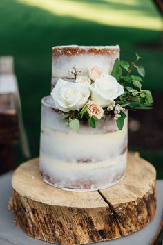 Delicious two tier rustic party cake: Read More on SMP: http://www.stylemepretty.com/living/2016/08/09/this-is-the-wildly-gorgeous-solution-to-a-gender-neutral-baby-shower/
