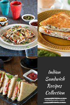 Sandwich Recipes Easy Indian Hot Sandwichs and Cold Sandwiches. A sandwich is a quick and easy breakfast or snack that Vegetarian Sandwich Recipes, Easy Sandwich Recipes, Sandwich Fillings, Sandwich Ideas, Snack Recipes, Vegan Recipes, Cold Sandwiches, Chaat Recipe, Indian Breakfast