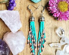 Seed Bead Earrings, Long Fringe Earrings, Boho Beaded Earrings, Long Beaded Earrings, Seed Bead Tassel Earrings