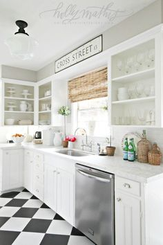 In my last kitchen-related post I mentioned how I had finally bought some new hardware for our recently painted cabinets. Holla!!! I was e...