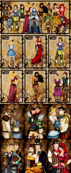Steam Punk Princess (found images on web by searching steam punk Disney)