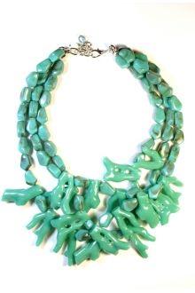 Sea Coral Statement Necklace #sophieandtrey #4thandOcean