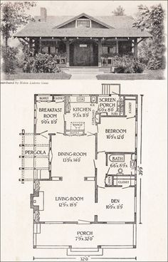 Craftsman home plan {justification for adding a pergola over the rear deck}