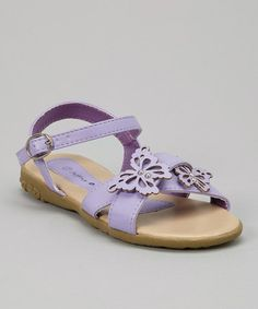 Take a look at this Purple Butterfly Sandal by Jeffrey D on #zulily today!