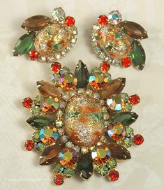 Check out the deal on Vintage Sought After DELIZZA and ELSTER JULIANA Easter Egg Demi Parure ~ BOOK PIECE at Amazing Adornments