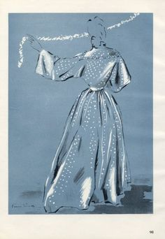 Bruyère 1945 Pierre Simon Fashion Illustration