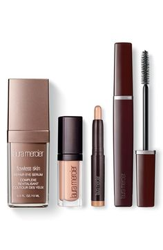 This Laura Mercier set from the Anniversary Sale has everything needed to create flawless eyes. It includes repair eye serum, a travel-size eye basics, an eye color stick in rose gold and mascara.
