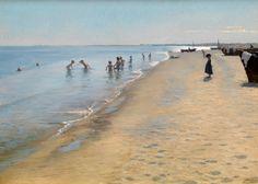 Summer Day at Skagen South Beach by Peder Severin Krøyer, 1884