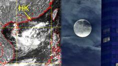 天文台說南海中部的低壓區正增強為熱帶氣旋。 (天文台衛星圖像)(互聯網)