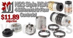 Innovative, 4-Control Airflow! – N23 Styled RDA – $11.89