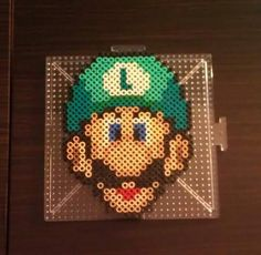 Luigi~ Perler Beads by CrimsonsCreations