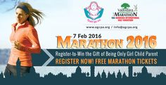 7 feb 2016.... marathon 2016... register-to-win the gift of being only girl child parent …..register now! Free marathon tickets http://ogcpa.org/