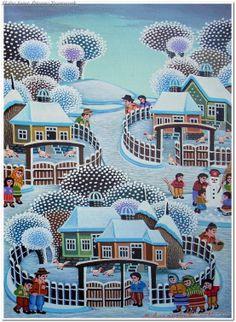 Winter Idyll by Milovan Lazarevic.
