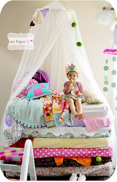 25 Unique Kids Birthday Themes | The New Home Ec| the princess and the pea | will have to do this for our little p baby some day!