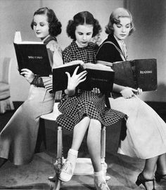 Reading. All the cool chicks are doing it. ;)
