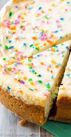 Funfetti Cheesecake aka the HAPPIEST dessert on the planet. Everyone loved this!