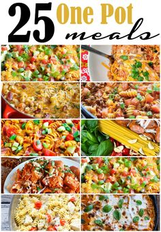 25 one pot meals that are simple to make with very little clean up!