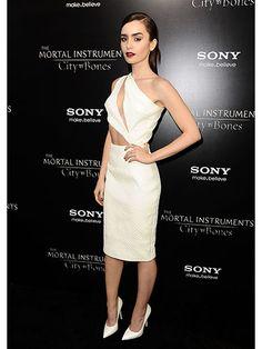 Lily Collins #celebrity #style #2013   DRESS   M E G H A N ♠ M A C K E N Z I E