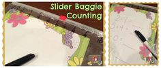 Slider Baggie Counting - The Organized Classroom Blog