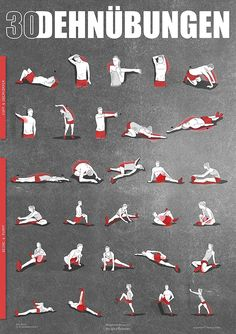 Stretching exercises poster DIN - instructions for stretching and stretching for your work . - Stretching exercises poster DIN – instructions for stretching and stretching for your workout - Fitness Workouts, Yoga Fitness, Sport Fitness, At Home Workouts, Fitness Motivation, Sport Motivation, Workout Posters, Sports Training, Muscle Training