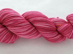 Hand Dyed Sock Yarn  Freddy Helix Dar Pink by gnarledpaw on Etsy, $18.50