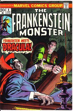 Frankenstein 8 Marvel Comics Dracula The Monster Tales of Horror Fear Terror Scary Creepy Nightmare 1974 VF by LifeofComics #comicbook