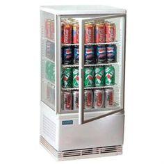 Vitrina frigorífica vertical blanca 68L. Polar Expositor refrigerado