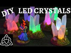 DIY LED Glue Stick Crystals for Tabletop RPG - YouTube Dnd Table, Miniature Bases, Diy Table Top, Led Diy, Puffy Paint, Christmas Party Games, Games Images, Thing 1, Diy Crystals