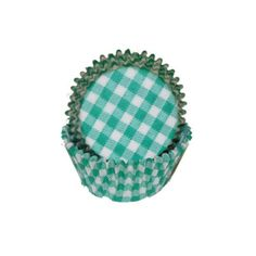 Gingham baking cups