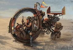 Post-Apocalyptic Art | DeathCycle Picture (2d, post apocalyptic, vehicle)