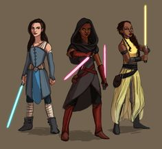 The Schuyler Sisters // Hamilton x Star Wars by 0tterp0p on Tumblr