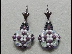 Elegant Beaded Earrings Tutorial - YouTube