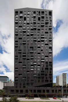 Magma Towers in Monterrey by GLR arquitectos - Interesting elevation, floor levels are not clearly visible