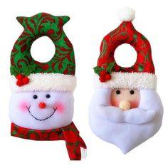 Resultado de imagen para adornos para manijas puertas de santa navideños Christmas Ornaments, Holiday Decor, Home Decor, Doors, Ornaments, Blue Prints, Decoration Home, Room Decor, Christmas Jewelry