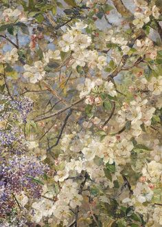 vermillons:  Marie Egner, In the Blossoming Bower (detail), 1896.