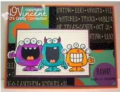 Your Next Stamp - Silly Monsters by D's Crafty Connection