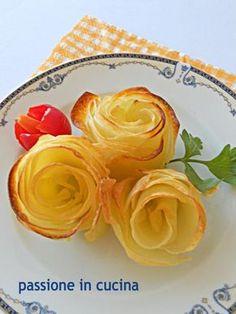 le rose di patate sono un'idea diversa per presentare le patate in un modo un po' più chic. semplici, croccanti, gustose e di effetto