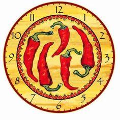 Decorative Chili Pepper Wall Clock